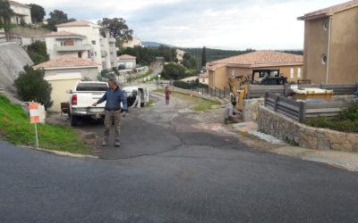 Travaux d'aménagement du chemin de Milarella